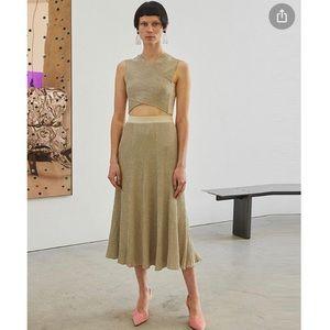 Rachel Comey Champagne Pleated Doss Skirt